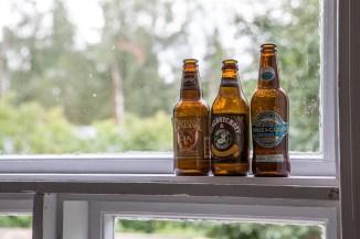 Flaskor i fönstret