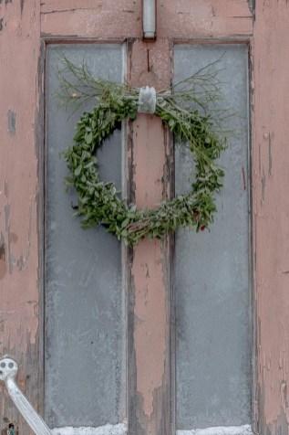 Krans på dörren