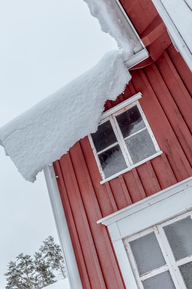 Snö på taket
