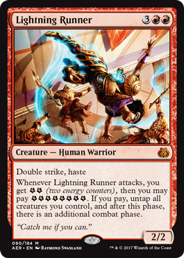Lightning Runner Magic The Gathering Aether Revolt
