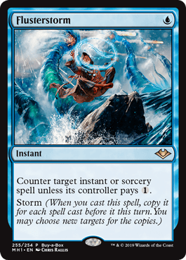 Magic: The Gathering Modern Horizons Buy-a-Box promo: Flusterstorm