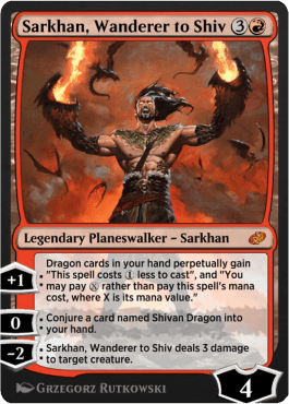 Sarkhan, Wanderer to Shiv old