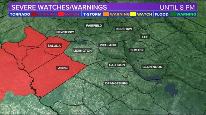 Tornado watch issued for parts of the Midlands