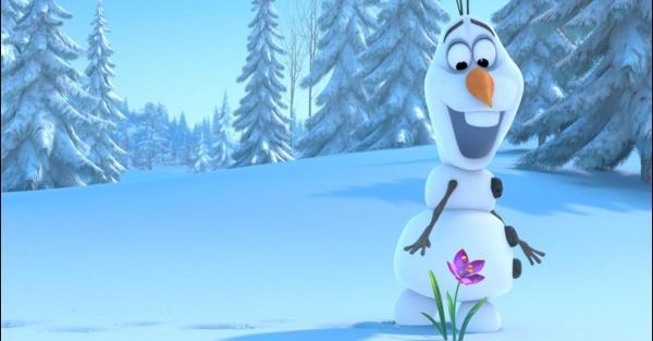 De leuke sneeuwman Olaf in Frozen
