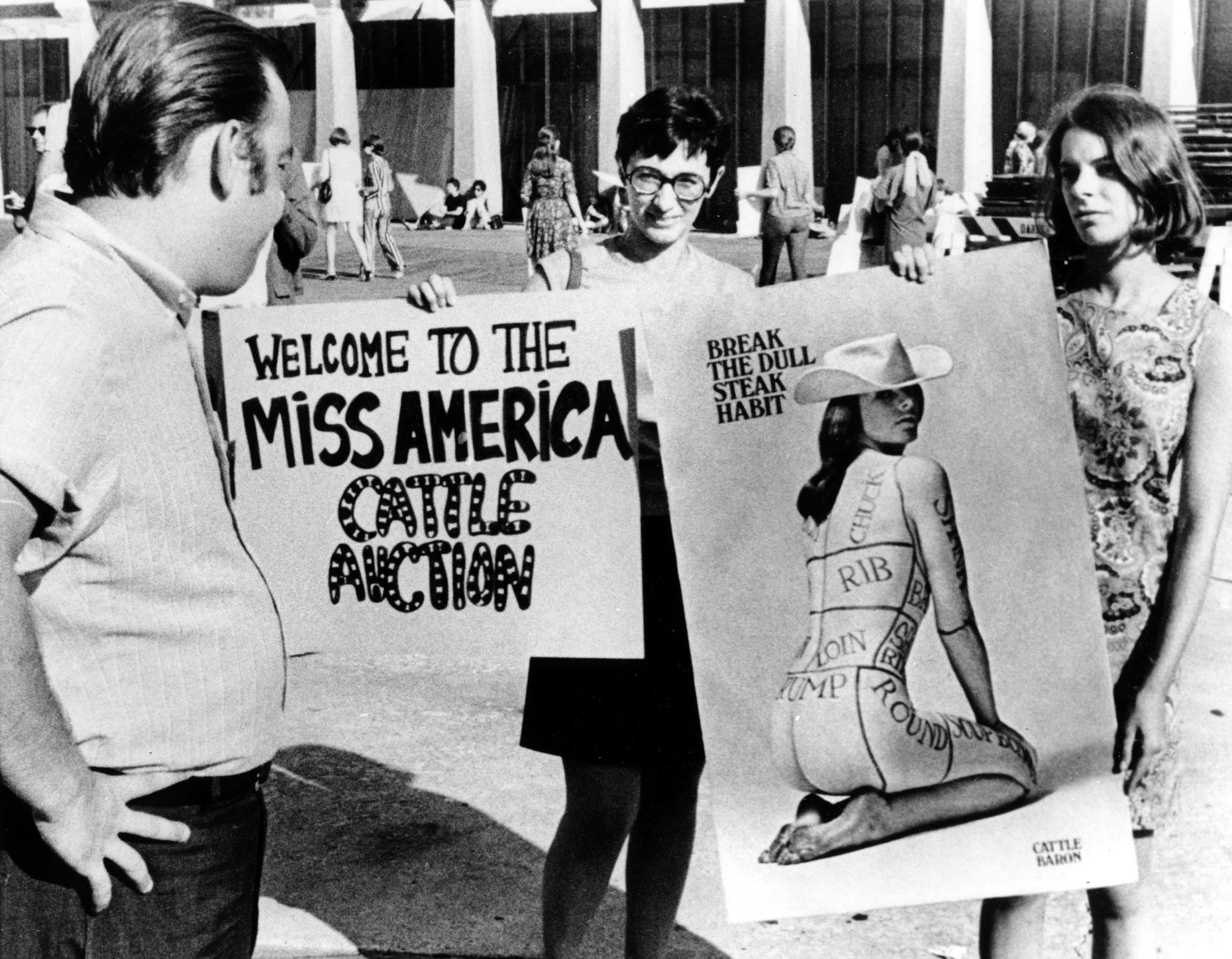 First Protests At The Miss America Pageant