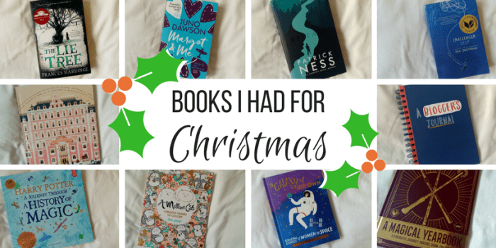 These are the books I asked my mum, uh--I mean, Santa--for this year for Christmas. There's a mix of fiction and non-fiction and I love them all!