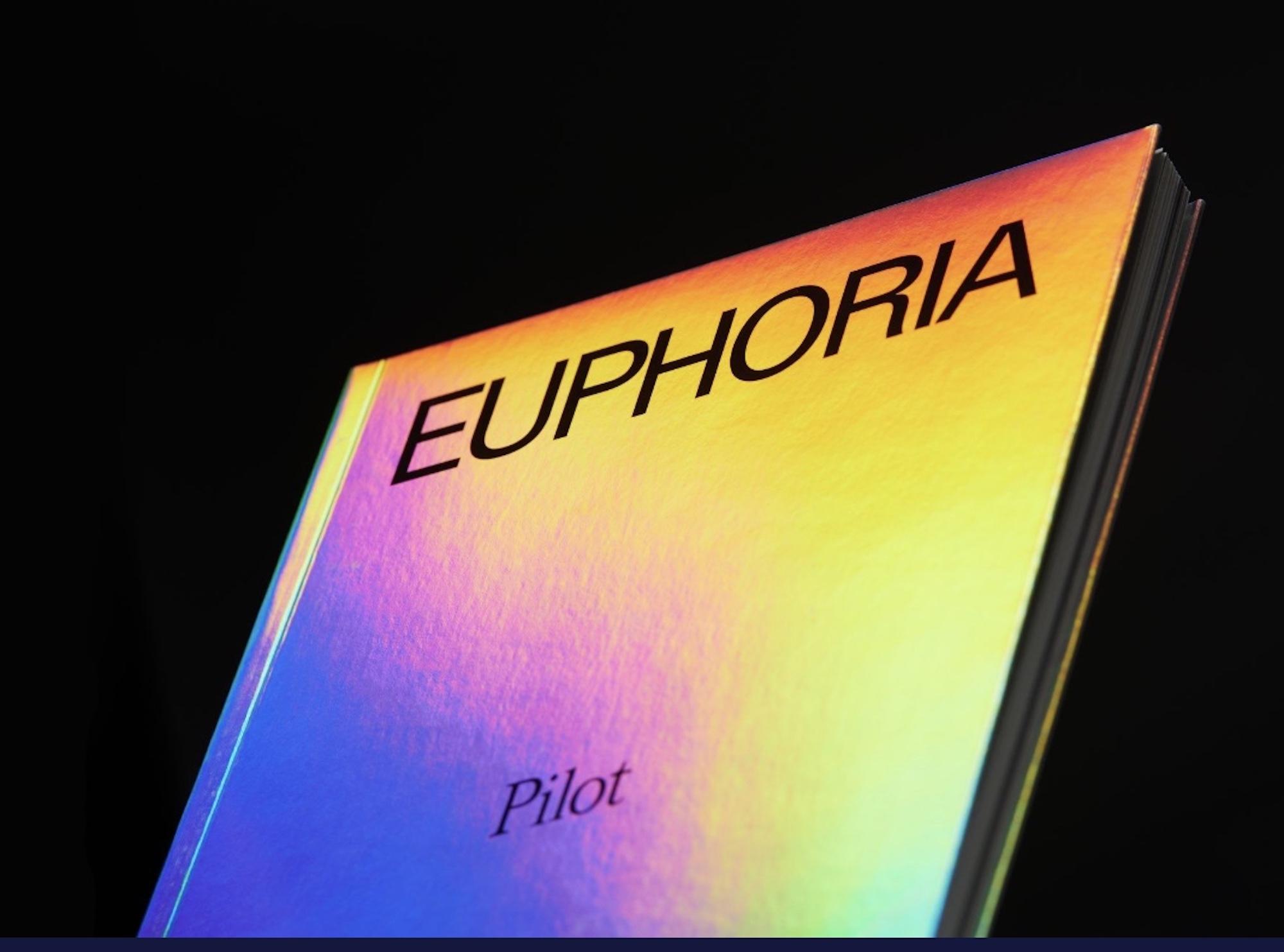 Euphoria x A24 Holographic Rainbow Pilot Book Cover