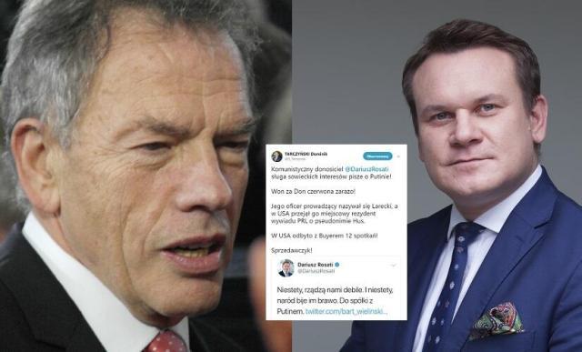 Dariusz Rosati (PO) i Dominik Tarczyński (PiS) / autor: Fratria/M.Czutko/A.Wiktor; Twitter