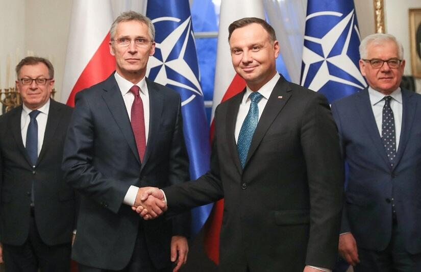 NATO SG Jens Stoltenberg and President of Poland Andrzej Duda. Source: wPolityce.pl