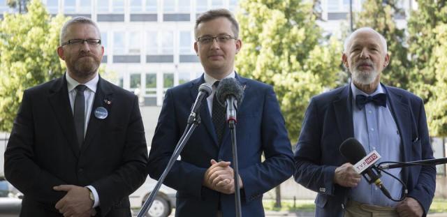 Konferencja prasowa liderów Konfederacji - Grzegorza Brauna, Janusza Korwin-Mikkego i Roberta Winnickiego, 23 czerwca 2020 roku  / autor: wPolityce.pl