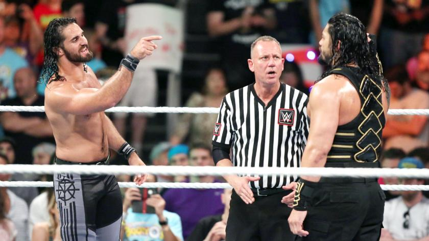 """WATCH: Roman Reigns vs. Seth Rollins From """"Money In The Bank"""" 2016"""