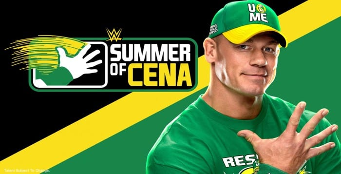 "WWE Announces 2021 ""Summer of Cena"" Schedule"
