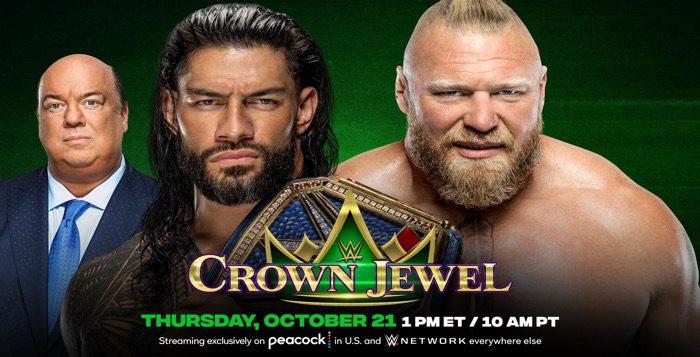 Roman Reigns vs. Brock Lesnar Confirmed For Crown Jewel 2021