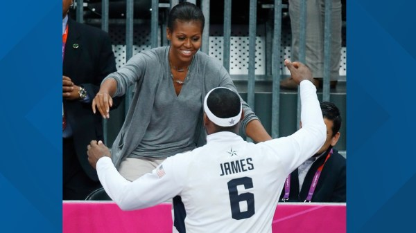 Michelle Obama says look for Lebron James qualities in a ...