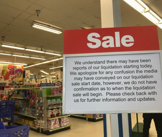 A Sign At The Toys R Us On Route 17 In Paramus Announcing That Liquidation Sales Were Not Taking Place Thursday March 22