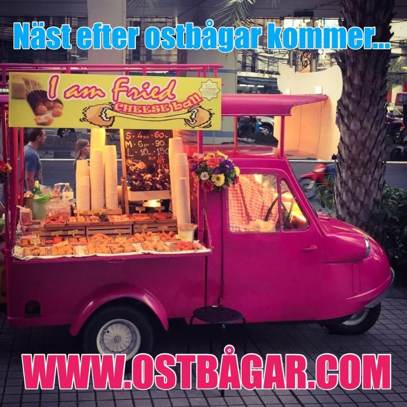 Bil som säljer ostbollar i Bangkok, Thailand