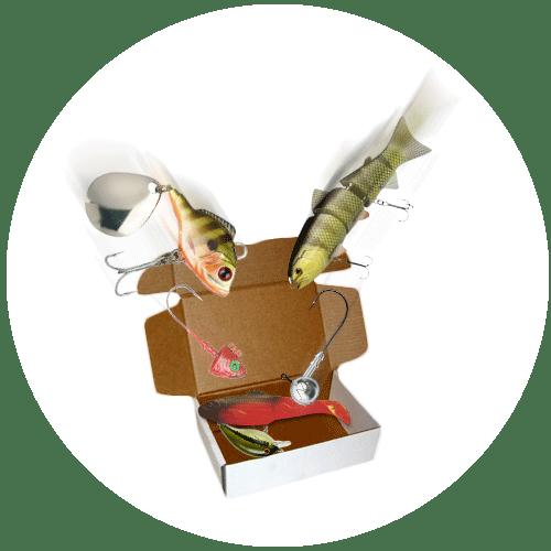 sportfiskelådan packas med sportfiskeprodukter