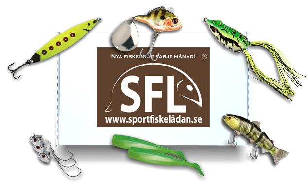 sportfiskelådan pro med curlytail, drag till gädda, skeddrag, drag till abborre