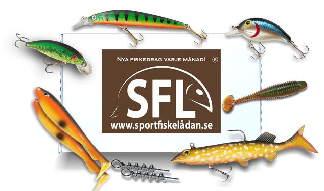 sportfiskelådan xl med massvis av fiskeprodukter