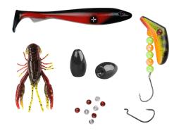 innehåll i sportfiskelådan standard april, jigg, kräftjigg, texat sänken, fasettpärlor, offsetkrok, lindy lil guy