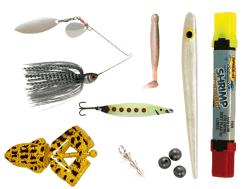 sportfiskelådan xl med 7 produkter fylld med spinnerbait, viking herring, jiggar och andra fiskeprodukter