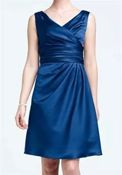 David s Bridal Collection F14823 Bridesmaid Dress   The Knot David s Bridal Collection F14823 V Neck Bridesmaid Dress