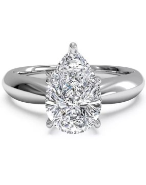 Pear Shaped Engagement Rings Ritani  Solitaire Diamond Tapered Engagement Ring