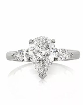 Pear Shaped Engagement Rings Mark Broumand  2 50ct Pear Shaped Diamond Engagement Ring