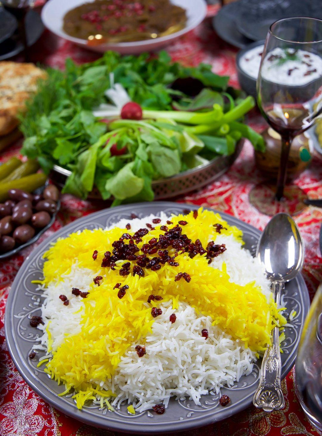 stekt ris med saffran