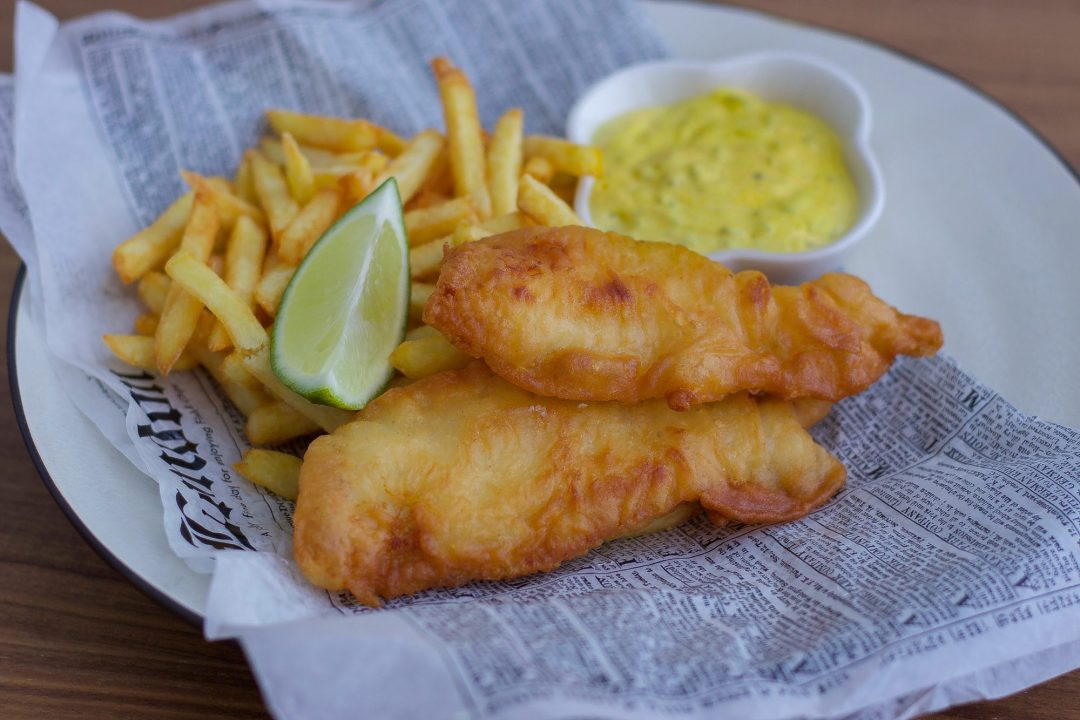 fish and chips sås creme fraiche