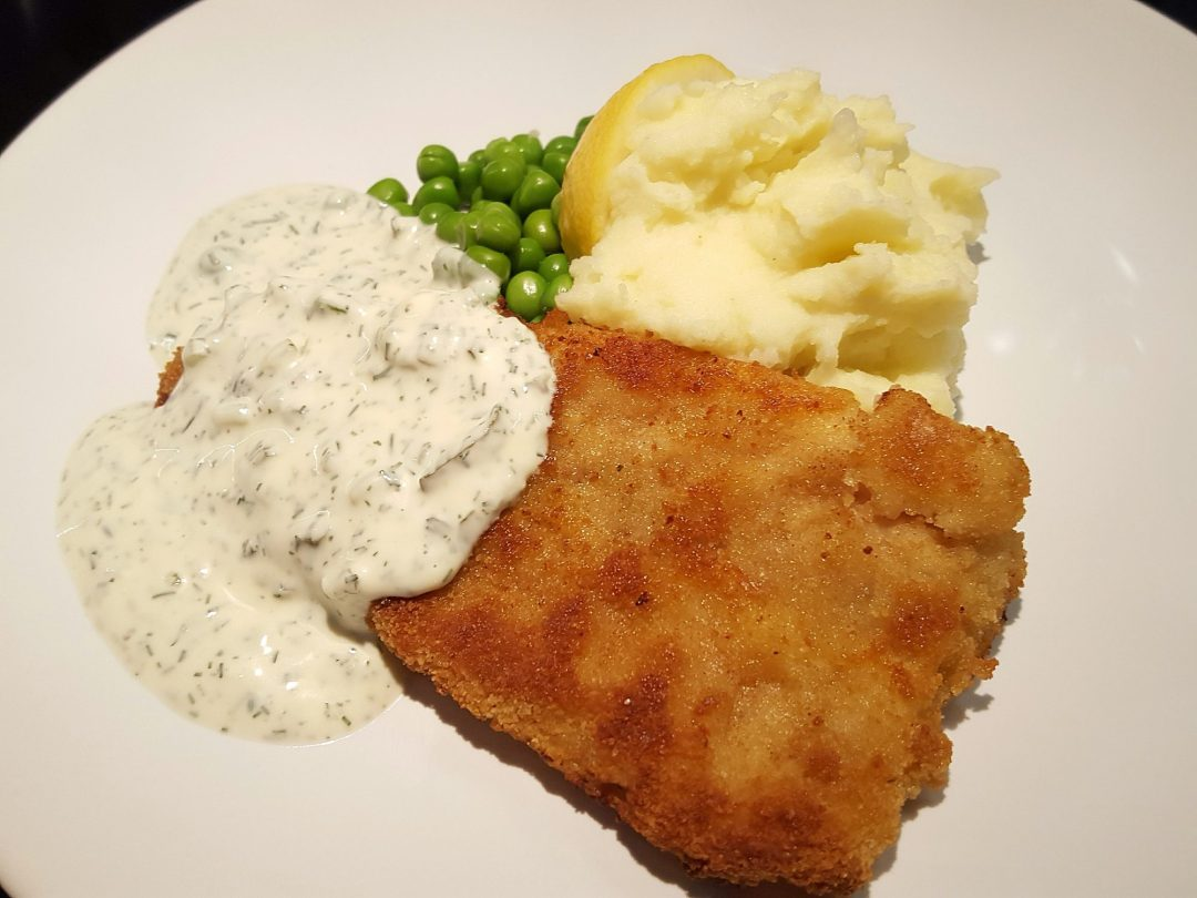 stekt fisk med potatis