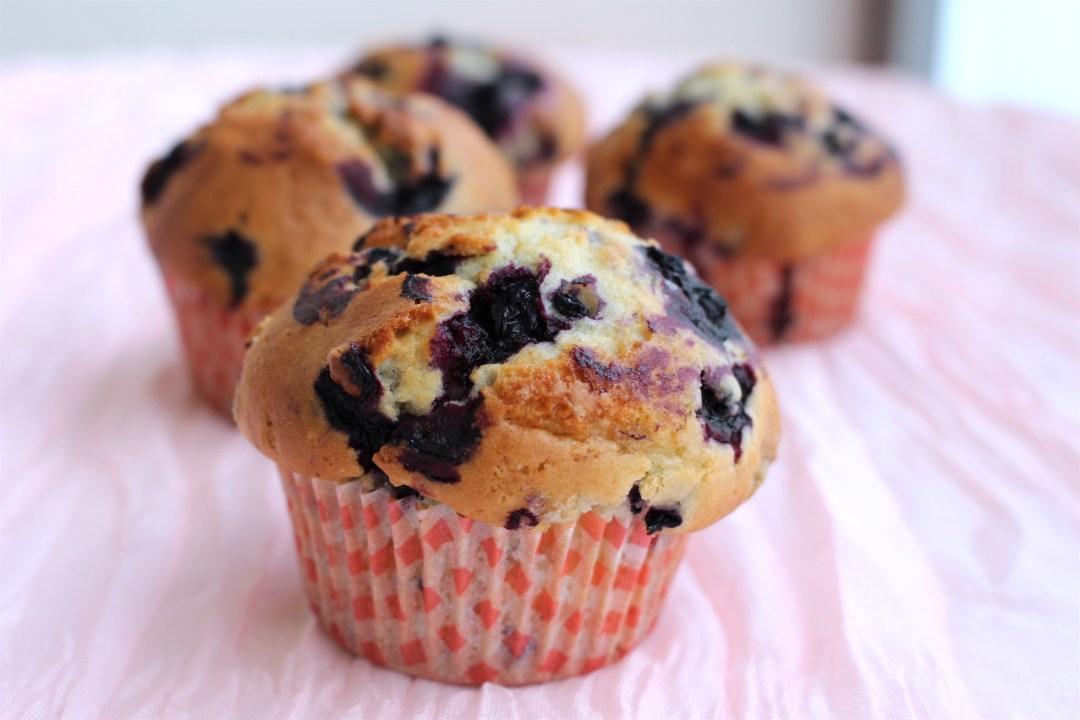 recept muffins blåbär