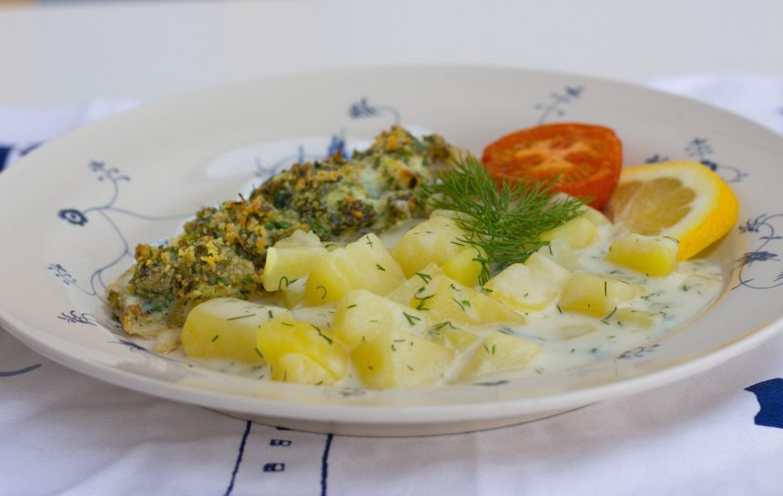 Dillstuvad potatis