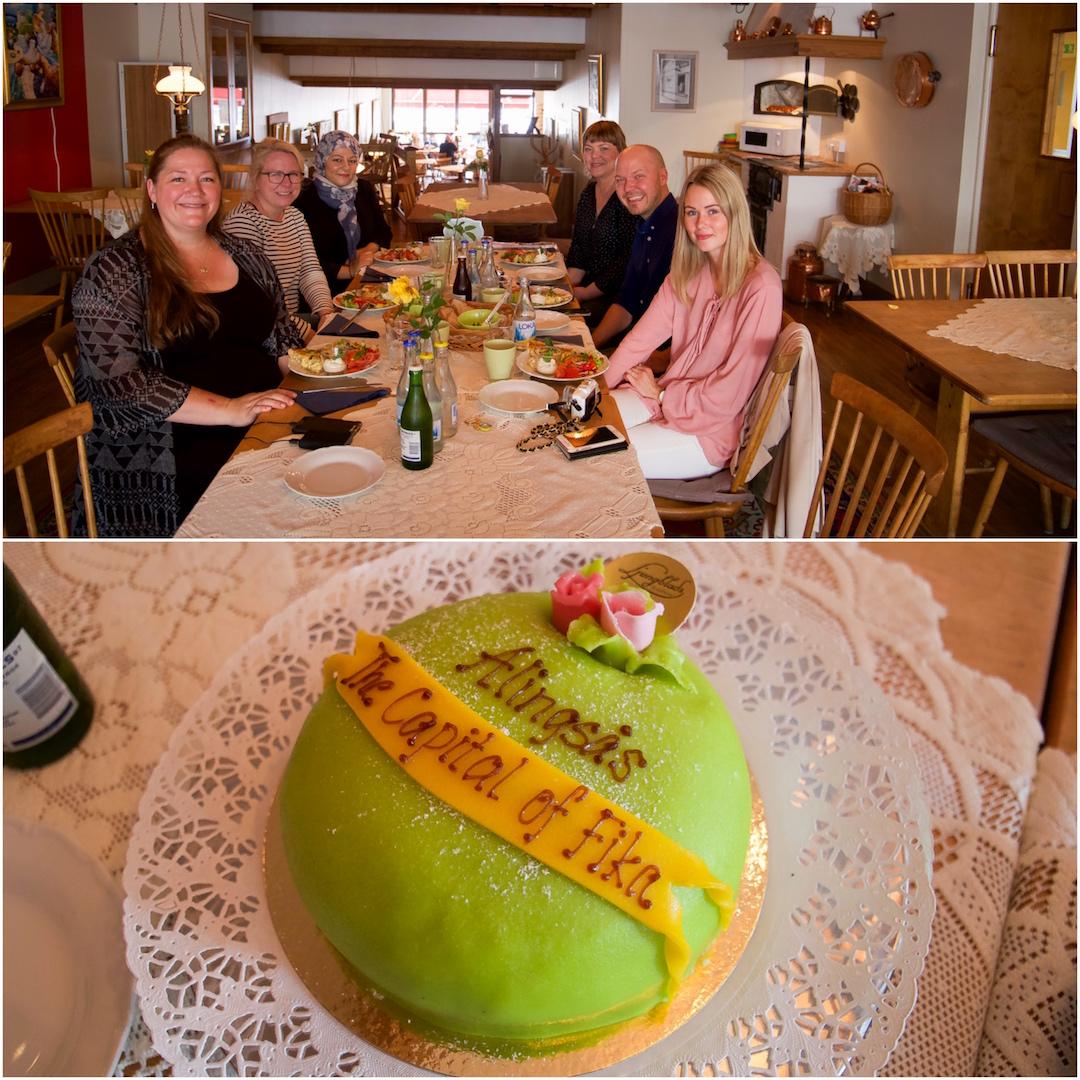 Mer fika och lunch i Ljungblads konditori. Åh prinsesstårtan var ljuvlig!