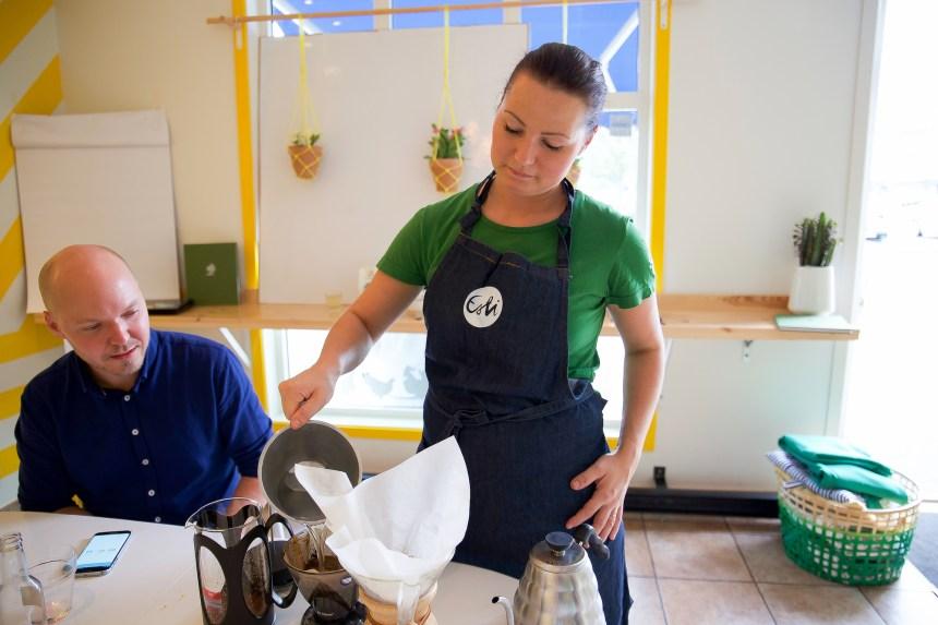 Vi fick träffa Maria som driver stället. En kvinna som brinner för det hon gör. En riktigt inspiratör med en stor kärlek för mat.