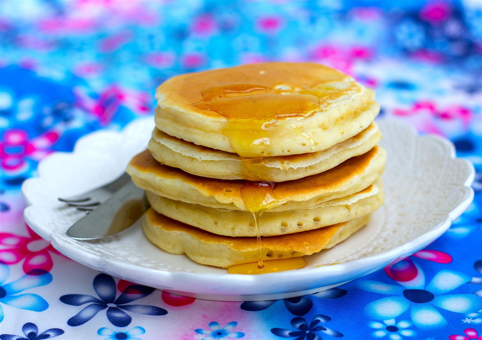 amerikanska pannkakor utan bakpulver