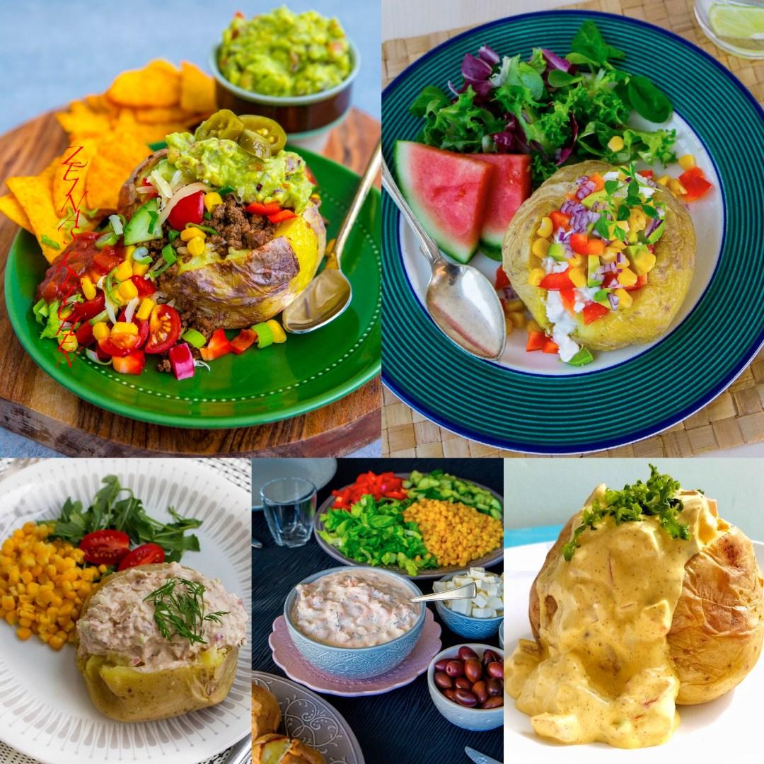 vegetarisk röra bakpotatis