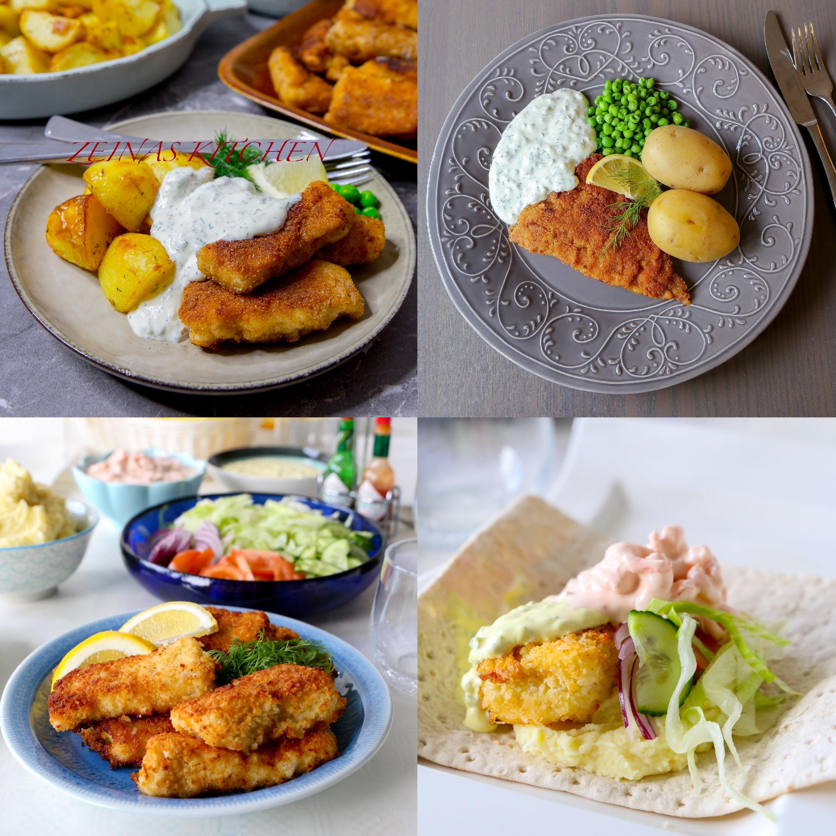 panerad fisk recept