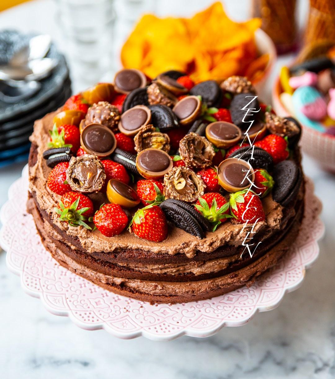 chokladgrädde till tårta