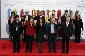Última cumbre de UNASUR, en Mendoza, a mediados de 2012 (AP)