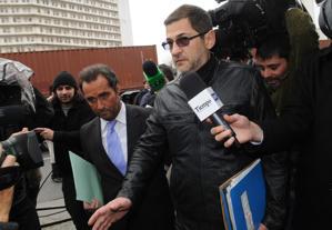 Sergio Schoklender, llegando a Comodoro Py por la causa que lo investiga (DyN)