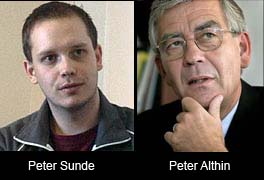 Peter Sunde och Peter Althin