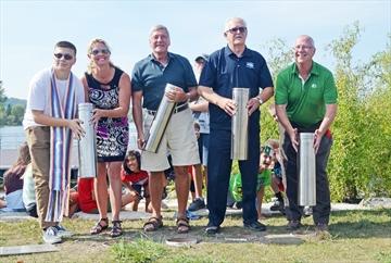 Four time capsules were buried Sept. 25 in Rotary Champlain-Wendat Park in Penetanguishene.