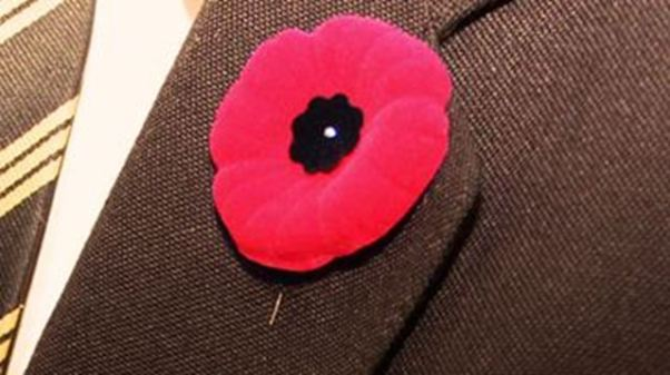 Poppy of remembrance