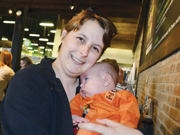 Mary Anne Shaw-Cosman chose to breastfeed her four children, including new arrival Thorin. The Simcoe Muskoka District Health Unit will soon apply to the World Health Organization for designation as a Baby-Friendly Initiative Facility.