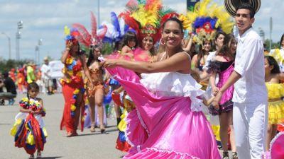 An image of latin people dancing