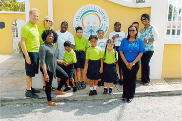 John and Jo-Anne Baird (left) were working at the Manasseh Academy, a new special needs school in St. Maarten, when Hurricane Irma hit the island.