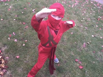 This little ninja is getting ready for his day of trick-or-treating. But some Simcoe County schools are cautioning students about wearing appropriate Halloween costumes to school.  Oct. 24, 2017