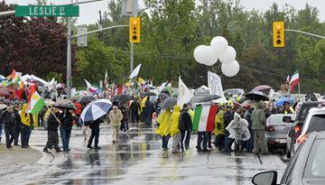 Rainy protest Sunday
