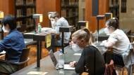 Endlich geöffnet: Die Bibliothek der Humboldt-Universität zu Berlin ist wieder benutzbar.